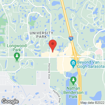 Map of Staples at 5429 University Pkwy, University Park, FL 34201