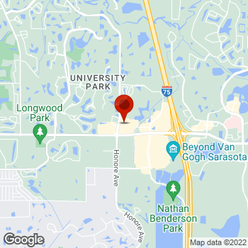 Map of Staples® Print & Marketing Services at 5429 University Pkwy, University Park, FL 34201