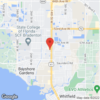 Map of Check `n Go 14th St. at 5860 14th St. W, Bradenton, FL 34207