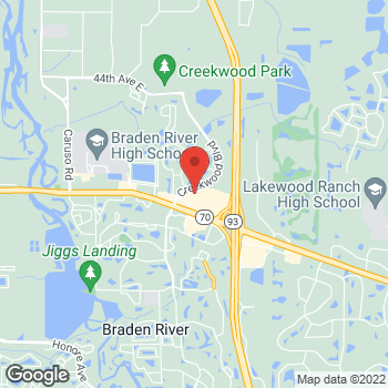 Map of Verizon Authorized Retailer - TCC at 7339 52nd Place East, Bradenton, FL 34203