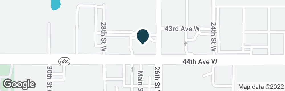 Google Map of4320 26TH ST W
