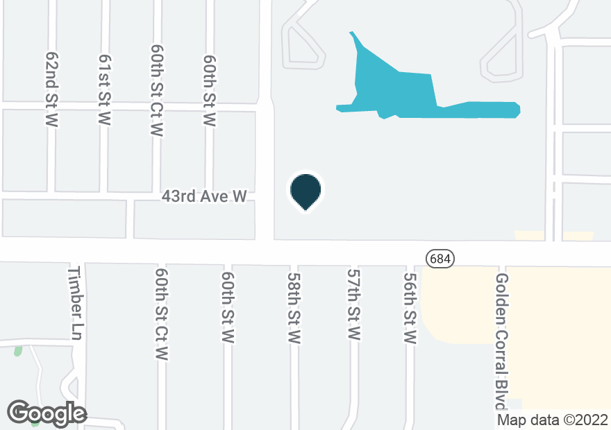 Google Map of5896 CORTEZ RD W