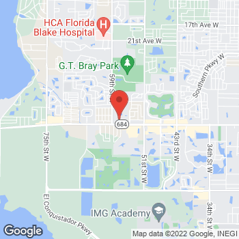 Map of Tuesday Morning at 5630 Cortez Road West, Bradenton, FL 34210