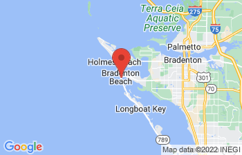 Map of Bradenton Beach