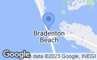 Map of Bradenton Beach, FL