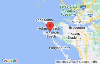 Map of Bradenton Beach