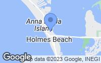 Map of Holmes Beach, FL