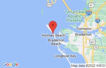 Map of Holmes Beach