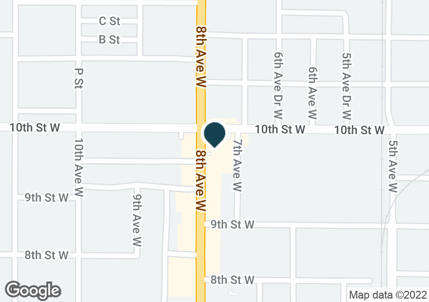 Google Map of930 8TH AVE W