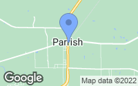 Map of Parrish, FL