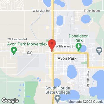 Map of Arby's at 5 Us Highway 27, Avon Park, FL 33825