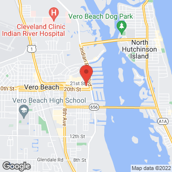 Map of Panera Bread at 2001 Indian River Boulevard, Vero Beach, FL 32960