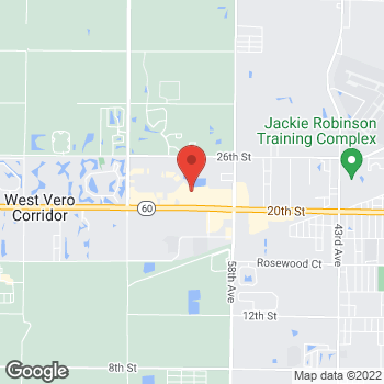 Map of Bed Bath & Beyond at 6150 20th Street, Vero Beach, FL 32966