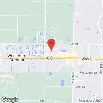 Map of location-map at 6200 20th Street, Vero Beach, FL 32966