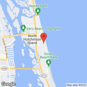 Map of Arturo Castro, MD at 2801 Ocean Drive, Vero Beach, FL 32963