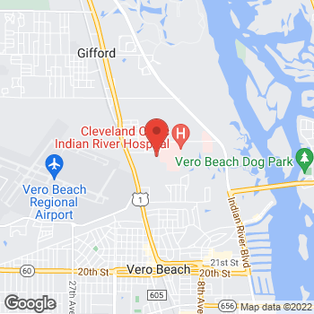 Map of Gary Silverman, MD at 1265 36th Street, Vero Beach, FL 32960