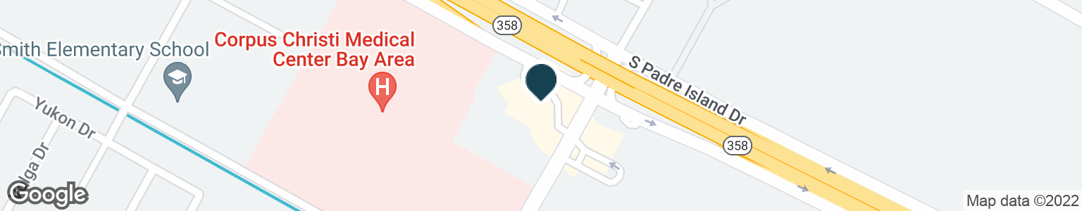 Google Map of7153 S PADRE ISLAND DR