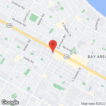 Map of Bed Bath & Beyond at 4717 South Padre Island Drive, Corpus Christi, TX 78411