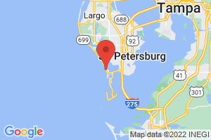 Map of St Pete Beach