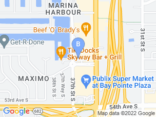 Map of Bay Moorings Animal Hospital Dog Boarding options in St Petersburg | Boarding