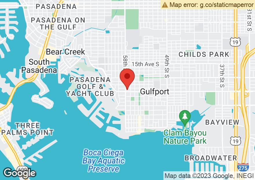 Google Map of 5701 GULFPORT BLVD S