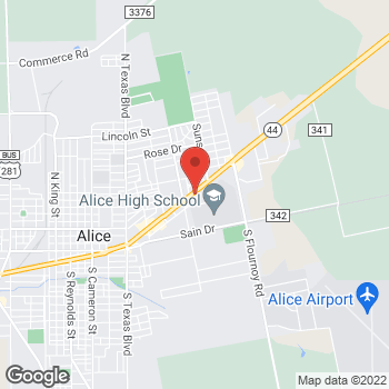 Map of Check `n Go Main at 1712 E Main, Alice, TX 78332