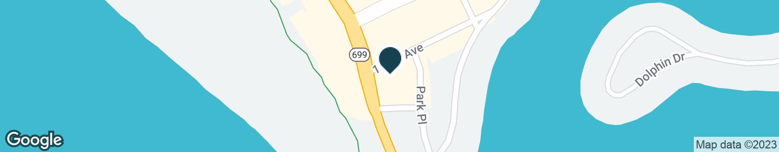 Google Map of10551 GULF BLVD