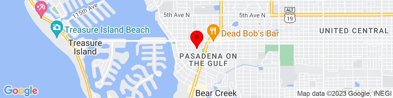 Google Map of 27.768744444444444, -82.73522222222222