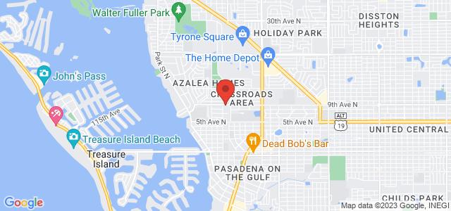 St Pete Florist Map