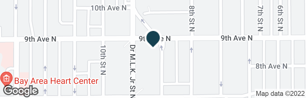 Google Map of875 DR MARTIN LUTHER KING JR ST N
