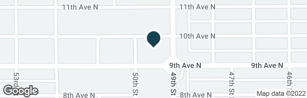 Google Map of900 49TH ST N