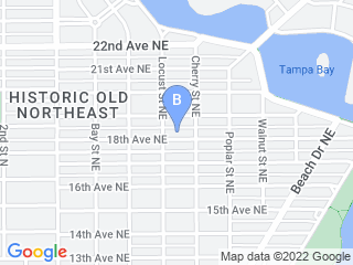 Map of A Walk Around The Block Dog Boarding options in St. Petersburg | Boarding