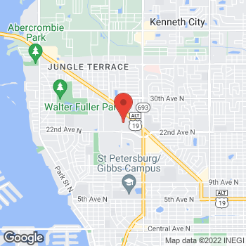 Map of G by GUESS at 6901 22nd Avenue, St Petersburg, FL 33710