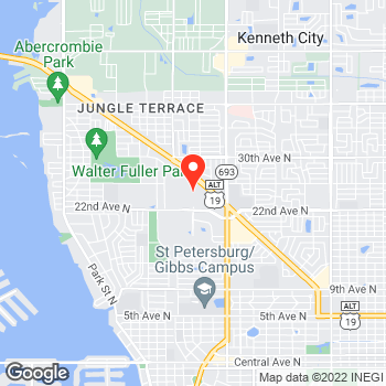 Map of LOFT at 6901 22nd Avenue North, Saint Petersburg, FL 33710