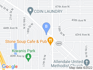 Map of Haines Road Animal Hospital Dog Boarding options in St Petersburg | Boarding