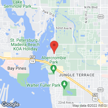 Map of Hair Cuttery at 4852 Park Street N Unit 5, St. Petersburg, FL 33709