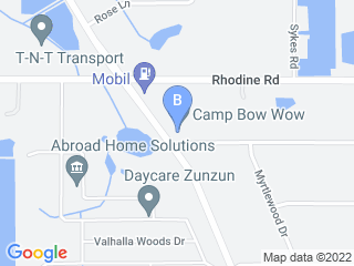 Map of Camp Bow Wow Dog Boarding Riverview Dog Boarding options in Riverview | Boarding