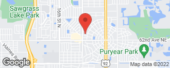 Map of 6393 9th St N in St Petersburg