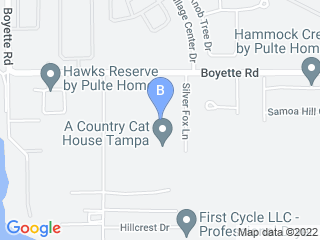 Map of A Country Cat House Dog Boarding options in Riverview | Boarding