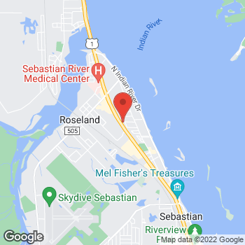 Map of Hadi Shalhoub, MD at 13100 US Hwy 1, Sebastian, FL 32958