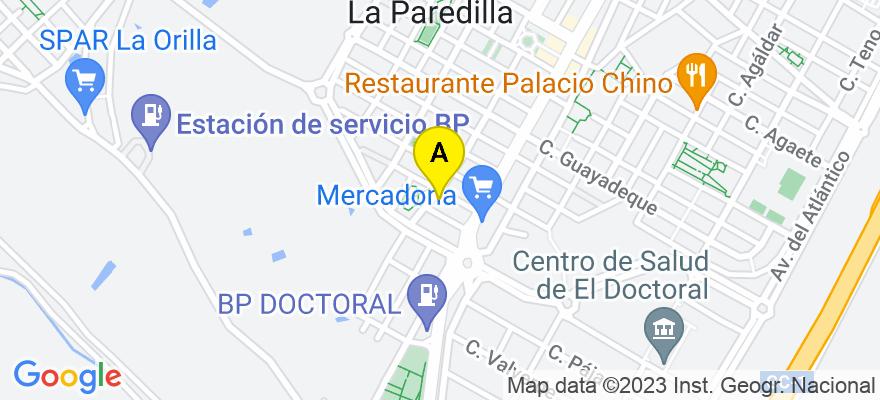 situacion en el mapa de . Direccion: Calle Tejina, 8 - Bloque 2 - 1º B, 35110 Santa Lucía de Tirajana. Las Palmas