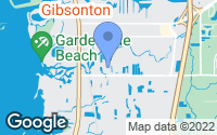 Map of Gibsonton, FL