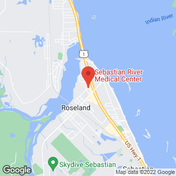 Map of Tania Lopez, DO at 8005 Bay Street, Sebastian, FL 32958
