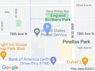 Map of Pinellas Animal Hospital Dog Boarding options in Pinellas Park | Boarding