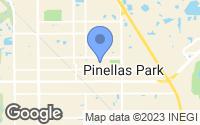 Map of Pinellas Park, FL