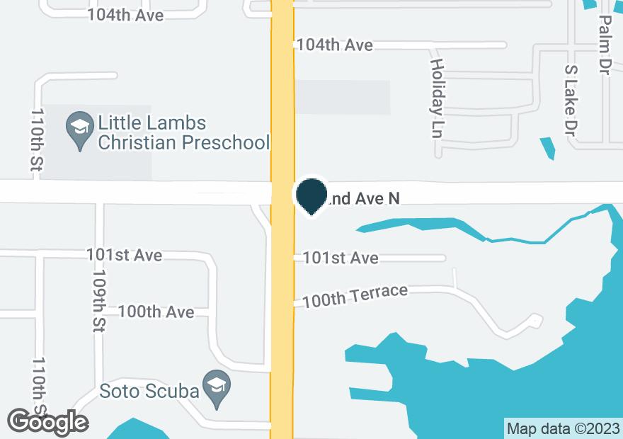 Google Map of10121 SEMINOLE BLVD
