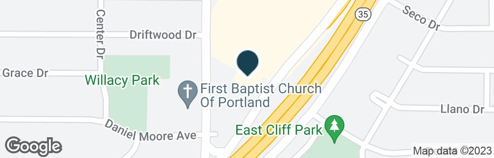 Google Map of1105 US HIGHWAY 181