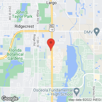 Map of Arby's at 12260 Seminole Blvd, Largo, FL 33778