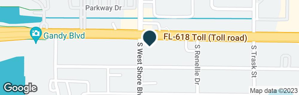 Google Map of4738 W GANDY BLVD