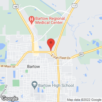 Map of Taco Bell at 1060 East Van Fleet Drive, Bartow, FL 33830